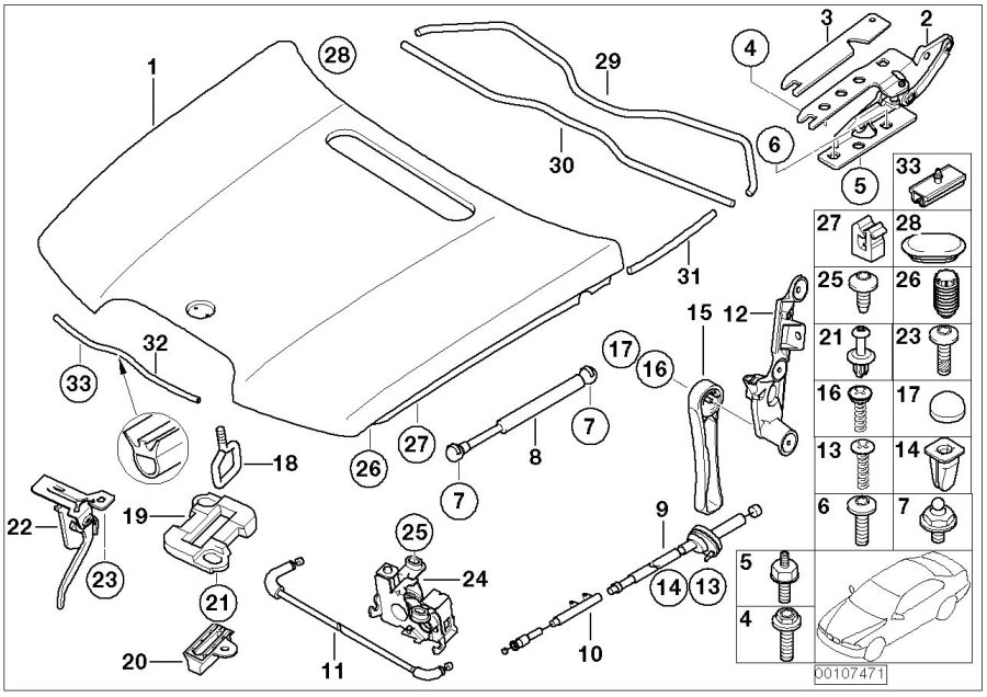 2005 bmw 545i parts diagram