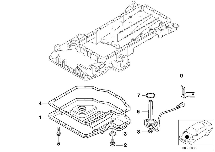 bmw 740ilp screw plug  m12x1  5  oil  level  indicator