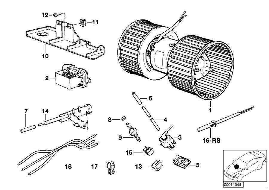 BMW 740iL Vacuum hose. 2X4. Heater, Conditioning, Air ...