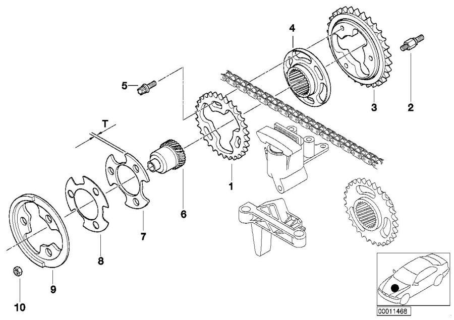 bmw 323ci tooth sleeve  train  valve
