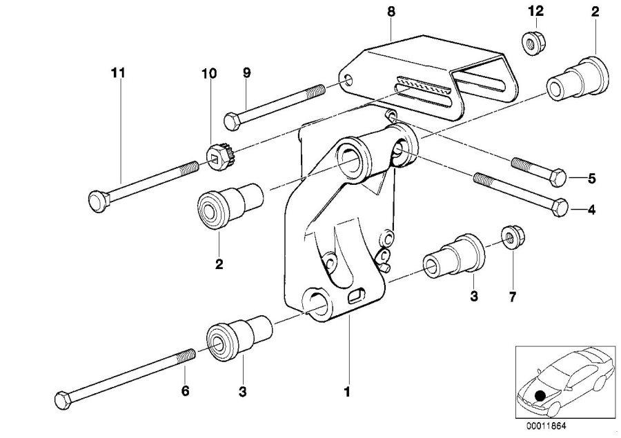 bmw 318i supporting bracket  alternatormounting  system  electrical
