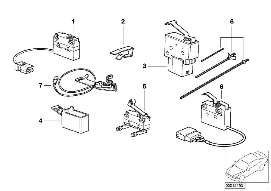 BMW 318i Micro switch wiper motor - 61318353502 | BMW ...