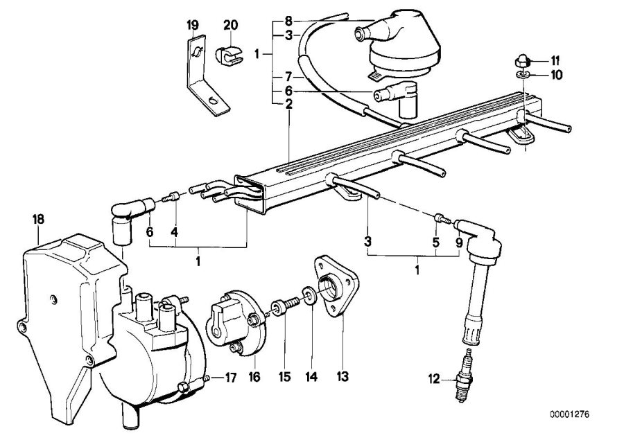 bmw m3 cable sleeve  ignition  wiring  system