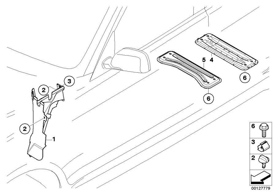 bmw x3 left engine compartment partition  body  various  trim