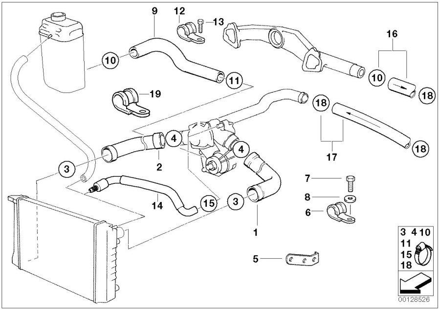 bmw 750il hose clamp l42 52 engine cooling. Black Bedroom Furniture Sets. Home Design Ideas