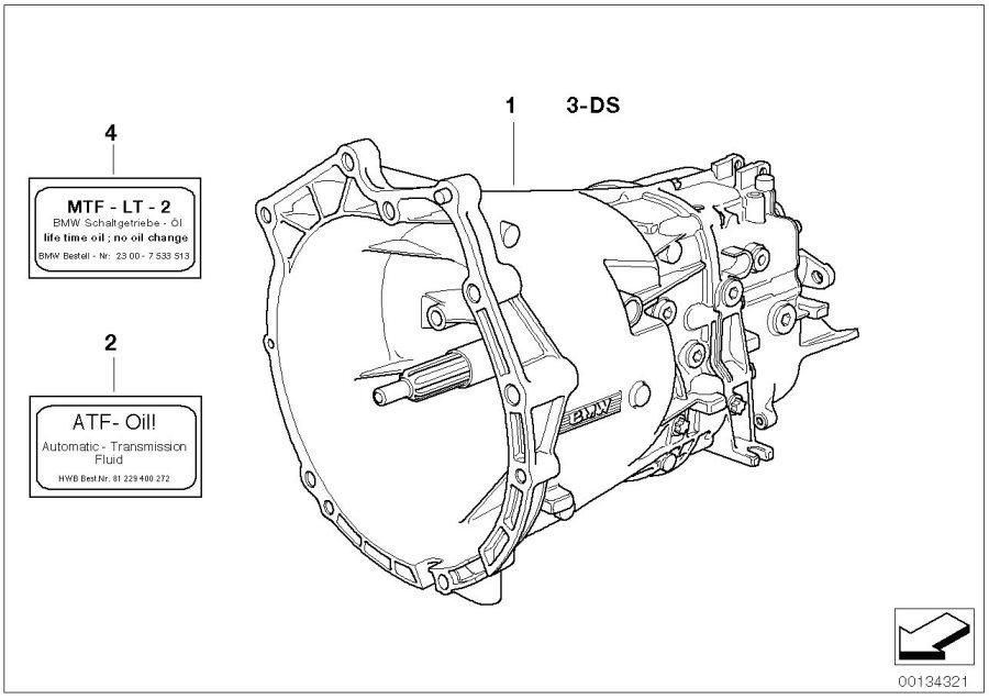 23001222997 - Bmw Rmfd-5 Speed Gearbox  S5d 320z