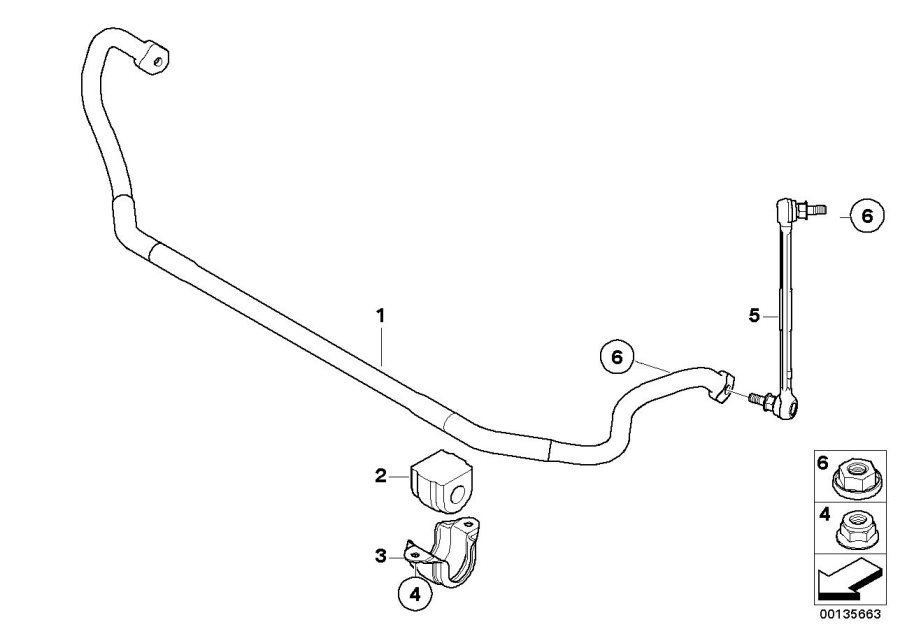 bmw edrive 1 swing support  front  right  suspension
