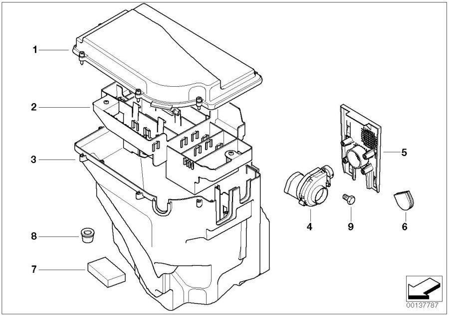 bmw 535xi e-box fan  control  alpina  unit