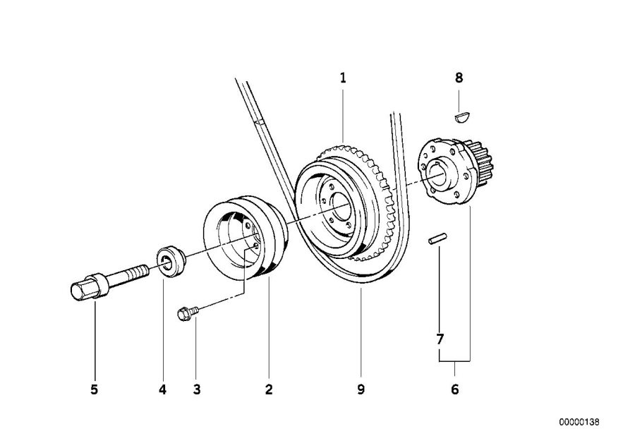 belt diagram m20 bmw
