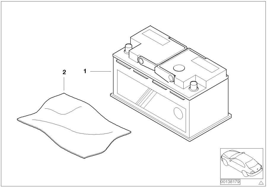 61216924021 bmw original bmw agm battery 70 ah system. Black Bedroom Furniture Sets. Home Design Ideas