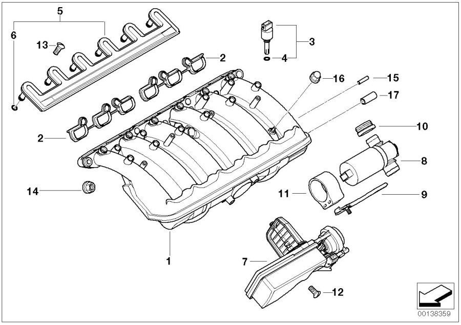 diagram of 2005 bmw 525i engine