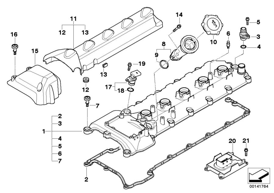 bmw m5 collar screw  m6x37  5  cylinder  head  engine