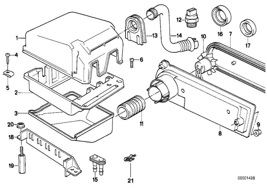 bmw 540i intake manifold lower part  box  control  unit