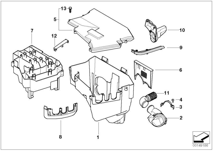 2006 bmw 530xi parts diagram