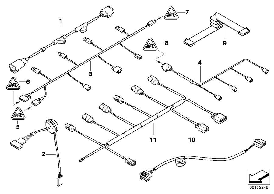 BMW    Alpina B7 Set of cables  front bumper  61126945520