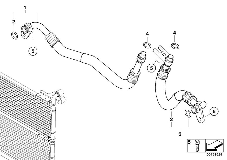 Bmw 535i Engine Oil Cooler Pipe  Return  Radiator  Cooling