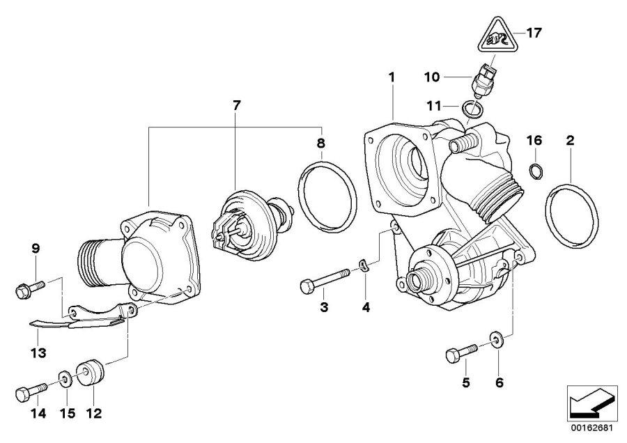 2001 bmw 3 0i x5 parts diagram