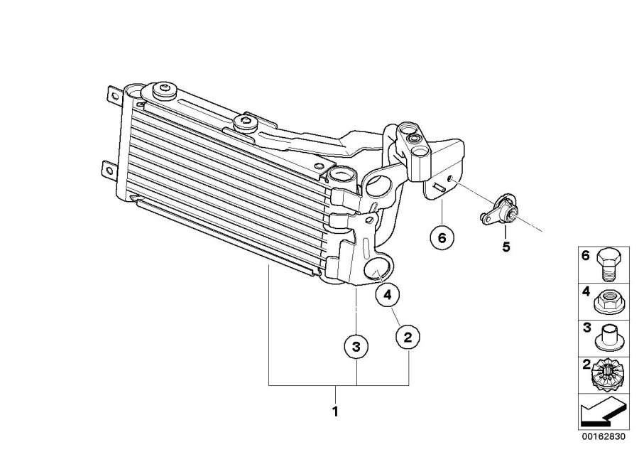 bmw e90 radiator diagram