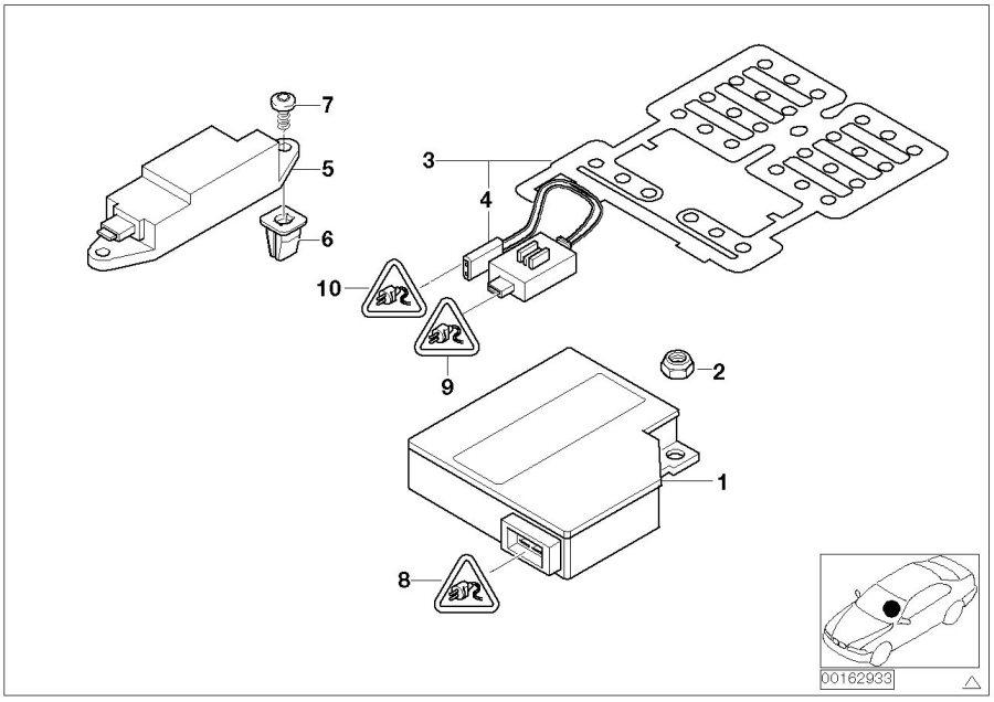 Bmw 540i Plug Housing 50 Pol Gelb Airbag Electric