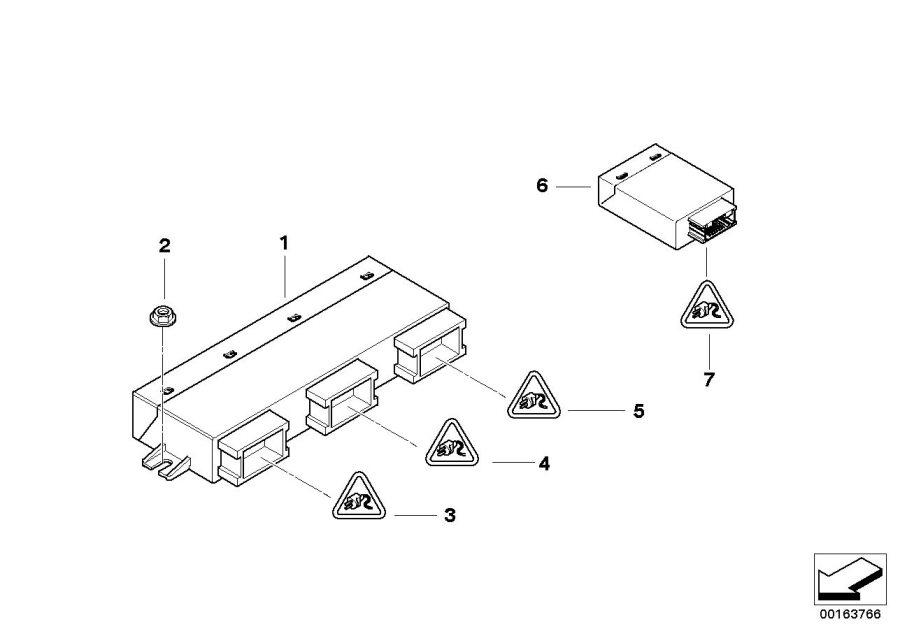 bmw 528xi socket housing  8 pol  control  rid  modules