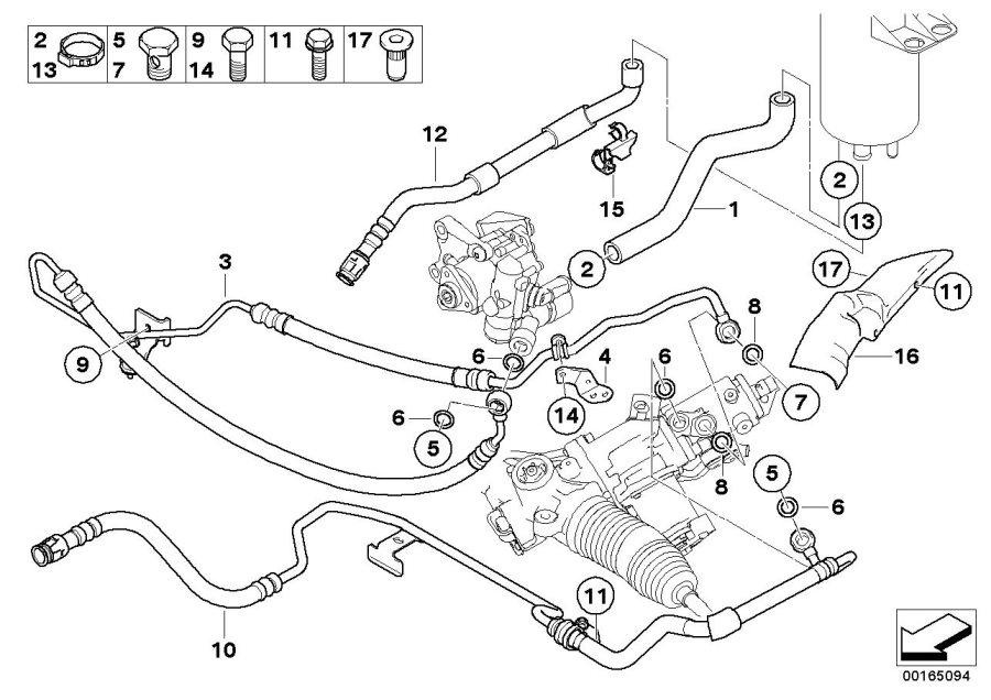 Bmw 525i Expansion Hose  Active Steering