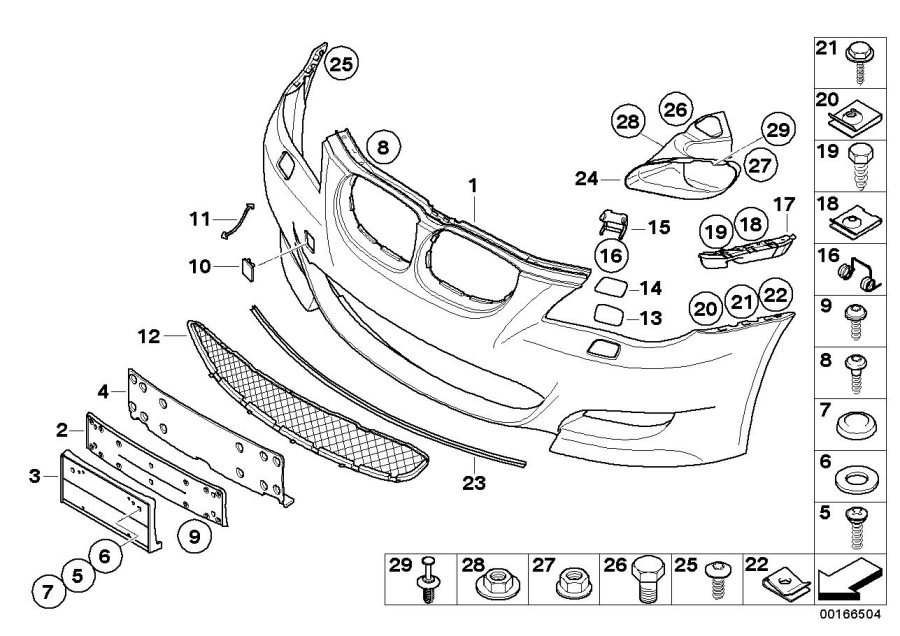 2005 bmw 545i front bumper parts diagram  bmw  auto wiring