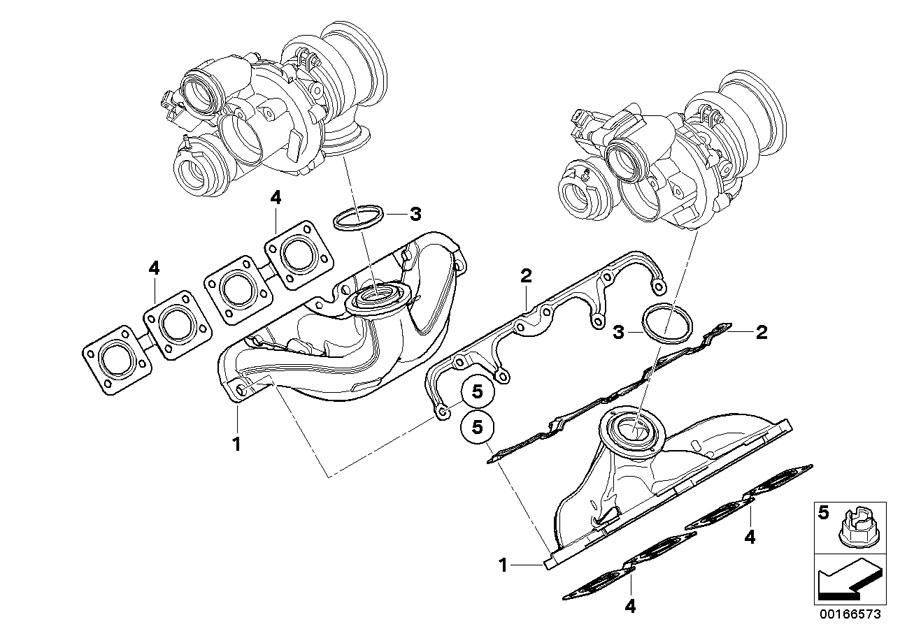 11627576991 Bmw Gasket Alpina Manifold Exhaust Bmw