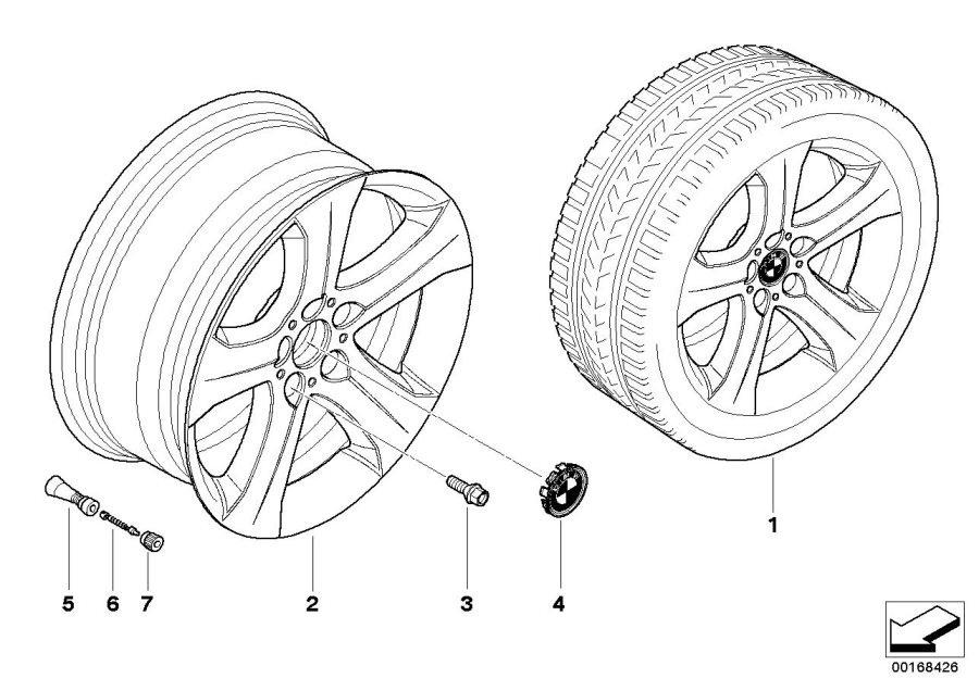 Bmw X6 Light Alloy Rim  9jx19 Et 48  Wheels  Wheel