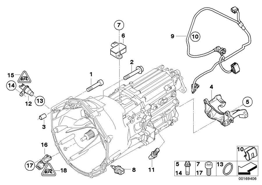 bmw m6 fillister head screw  m6x16  engine  alpina  mounting