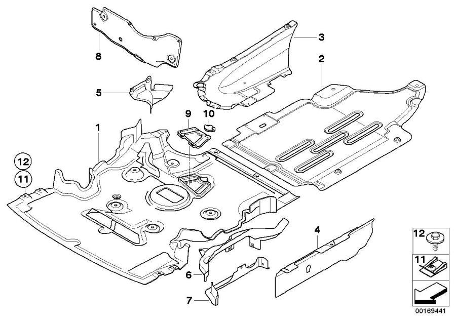 bmw 328ix rotary clip  trim  engine  body