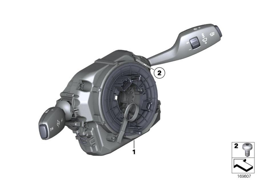 2014 Bmw 535ix Switch Cluster Steering Column  Alpina