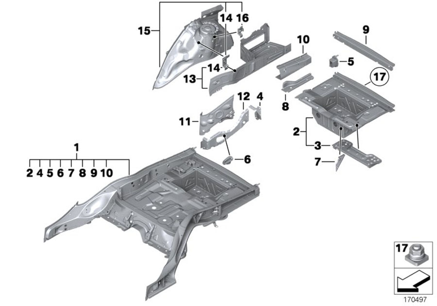 Bmw 750i Blind Rivet Nut  Flat Headed  M6  Alpina  Body