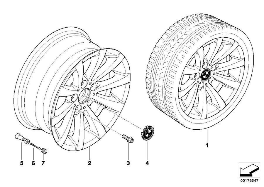 bmw 325xi light alloy rim  8jx17 et 34  wheels  wheel