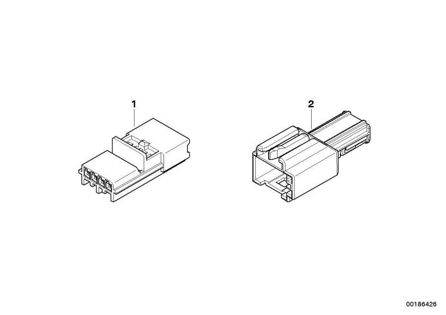 bmw x5 pin housing  uncoded  2 pol