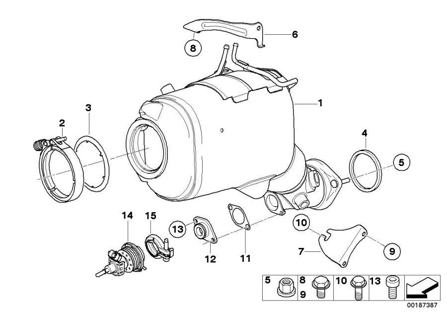 11627509731     BMW    Collar nut M8 Converter  Exhaust  Catalytic      BMW    Northwest  Taa WA
