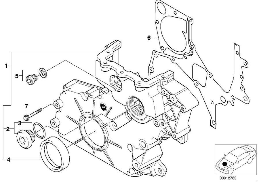 bmw 335d screw plug with gasket ring  m30x1  engine