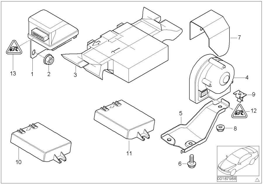 Bmw 323i Ultra Sonic-module  Alarm  System  Electrical