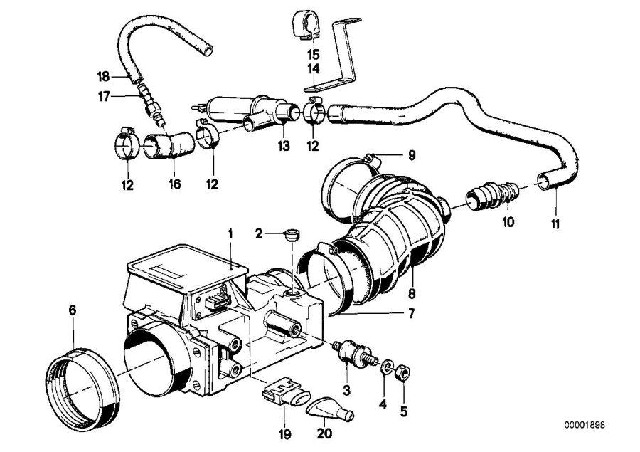 bmw 528e hose  fuel  system