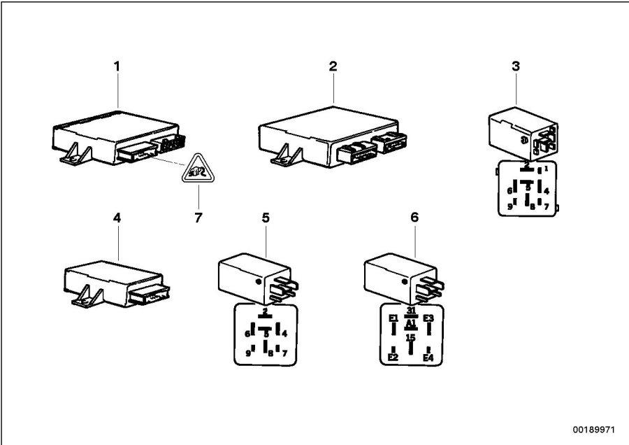 1994 Bmw 318i Wiper-wash-control Unit  Harness  Electrical  Wiring