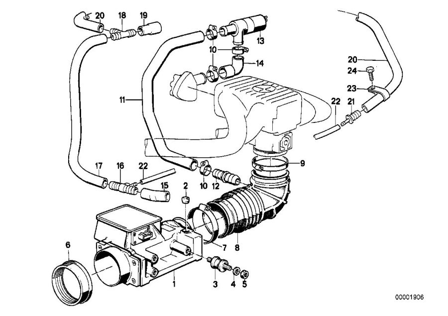 Bmw 318i Hose  Fuel  System