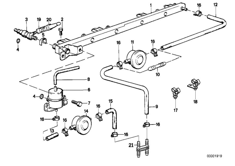 bmw 325ix fuel hose  32mm-210mm  system  supply  filter