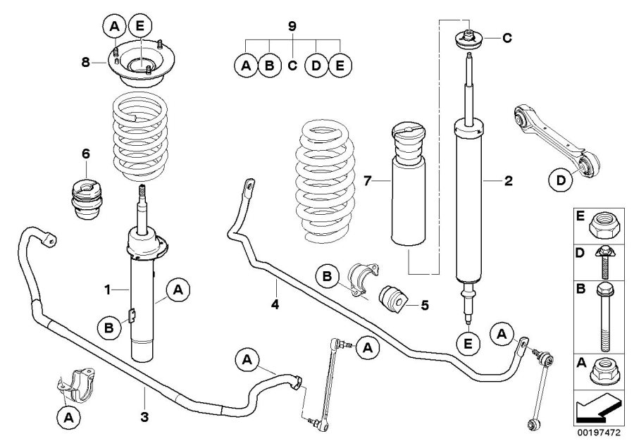 bmw x1 guide support  suspension