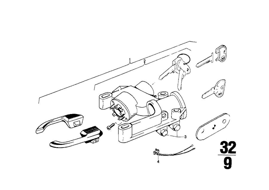 1976 bmw steering column diagram