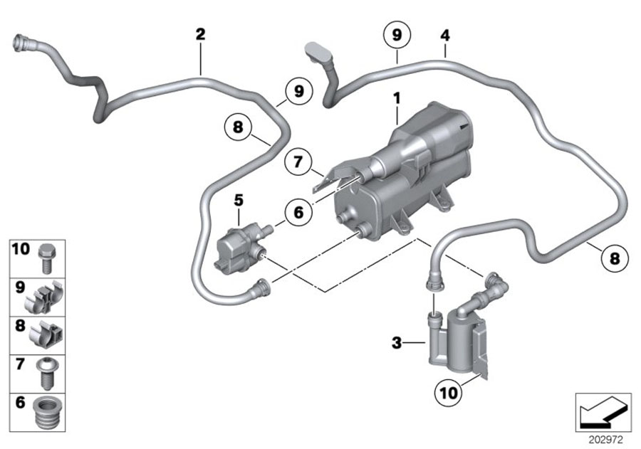 bmw 325xi activated charcoal filter  fuel  system