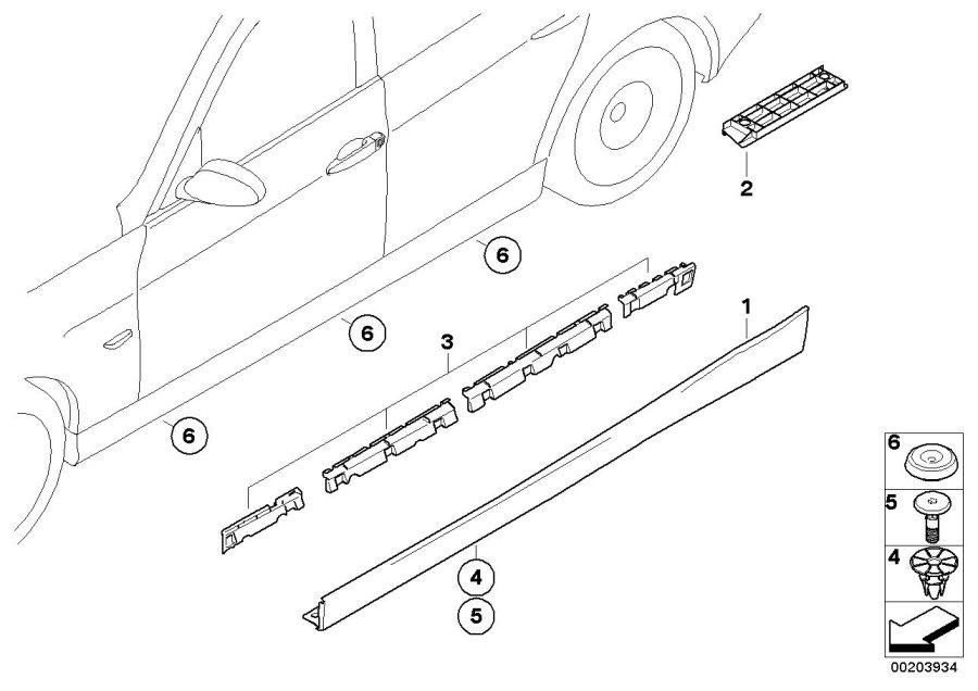 bmw 325xi impact protection  left sill  trim  wheel  body