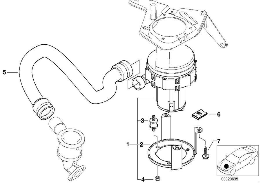 bmw 525i pressure hose assy