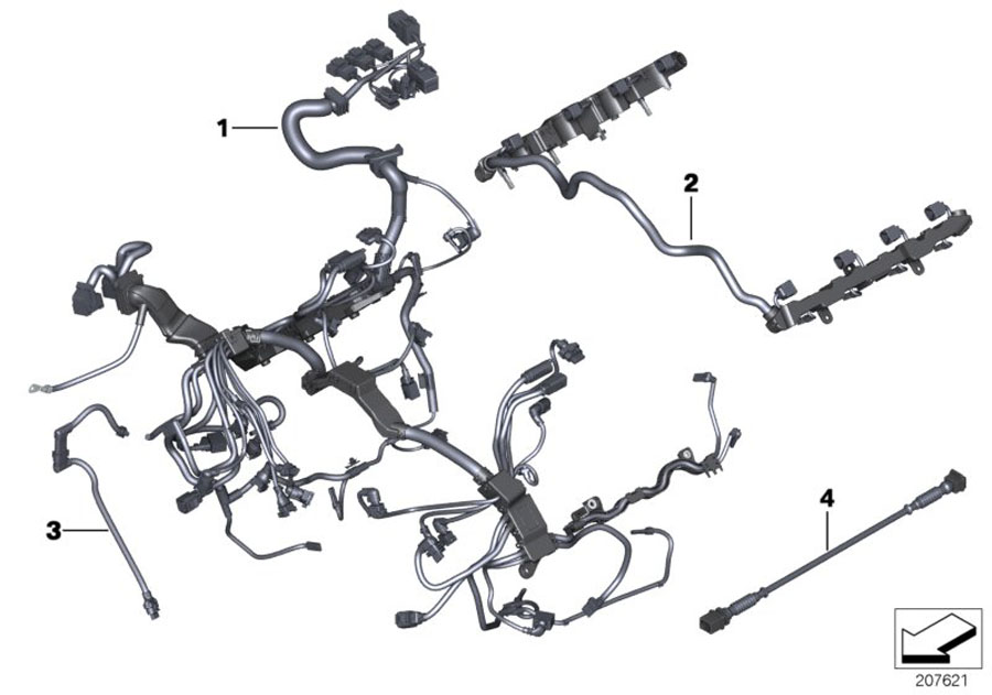 bmw hybrid 7 engine wiring harness  engine module  system  electrical