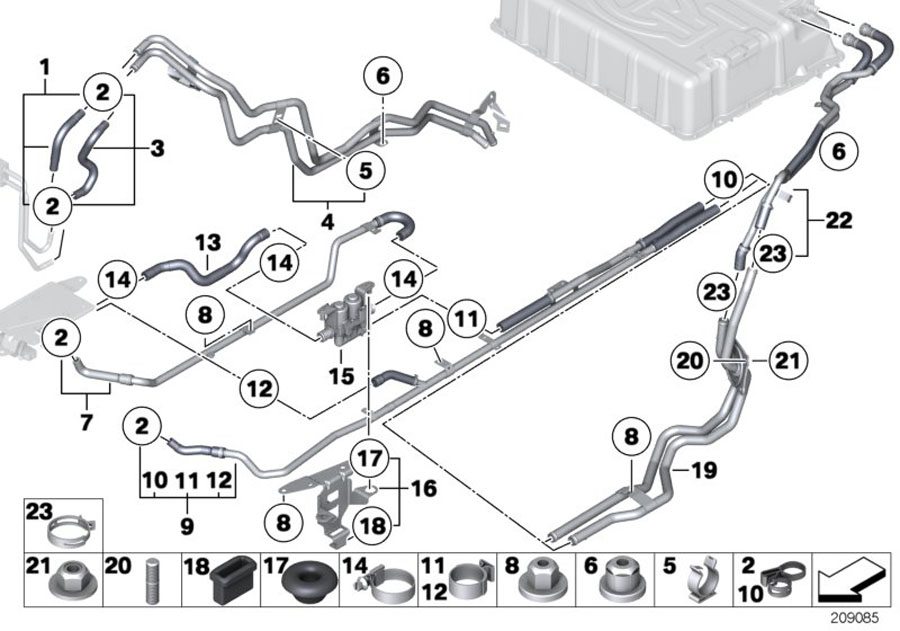 Bmw X6 Water Valve  Cooling  Hoses  Rid