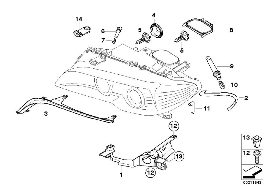 Bmw X3 High Beam Cover  Headlight  Single  Components