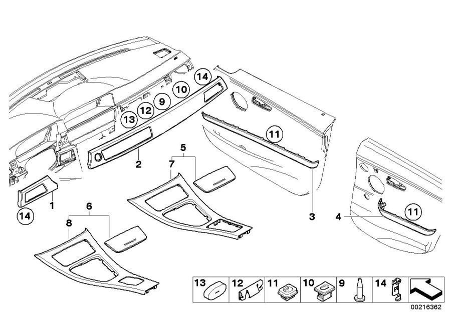 bmw 323i interior parts diagram html